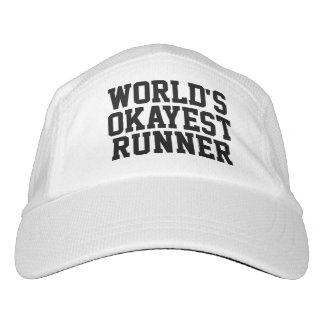 Funny World's Okayest Runner Running Headsweats Hat