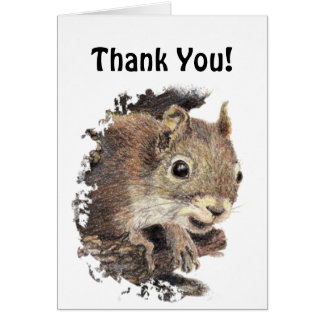 Funny, Would Have Gone Nuts!  Thank You Squirrel Greeting Cards