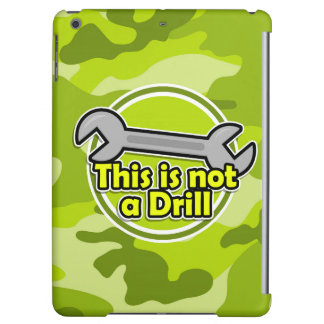 Funny Wrench; bright green camo, camouflage iPad Air Case