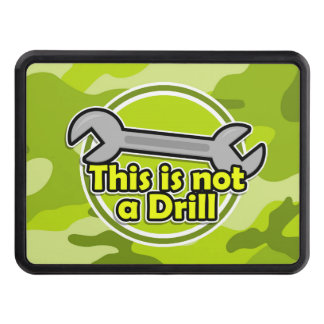 Funny Wrench; bright green camo, camouflage Tow Hitch Cover