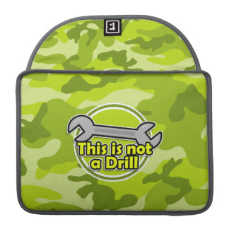 Funny Wrench; bright green camo, camouflage Sleeve For MacBooks