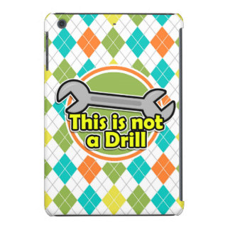 Funny Wrench; Colorful Argyle Pattern iPad Mini Retina Cover