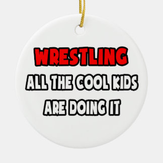 Funny Wrestling Coach Shirts and Gifts Ornaments