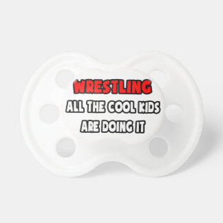 Funny Wrestling Coach Shirts and Gifts Pacifiers
