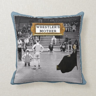 funny wrestling throw pillow