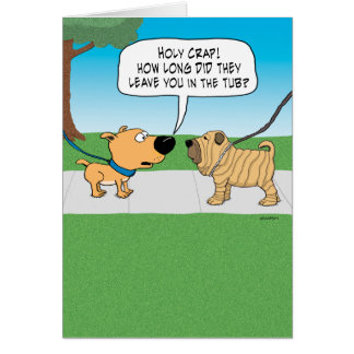 funny dog greeting cards  zazzle, Birthday card