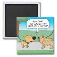 Funny Wrinkly Shar-Pei Dog Fridge Magnet