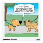 Funny Wrinkly Shar-Pei Dog Wall Decal