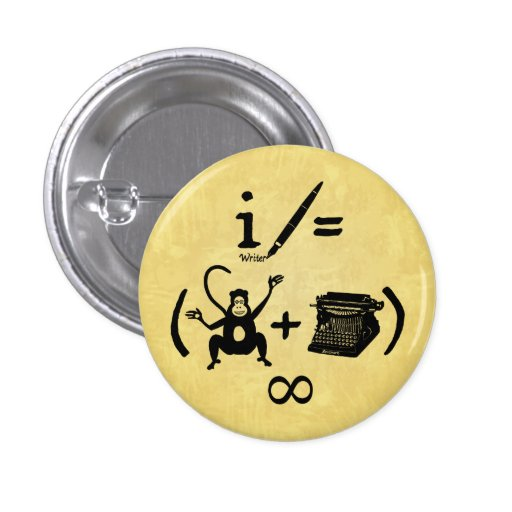 Funny Writer Monkey Typewriter Equation Buttons