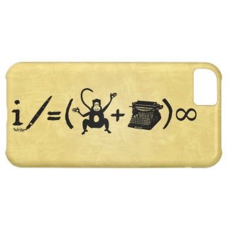 Funny Writer Monkey Typewriter Equation Cover For iPhone 5C