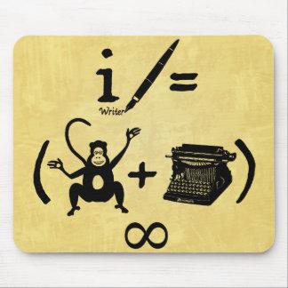 Funny Writer Monkey Typewriter Equation Mouse Pad