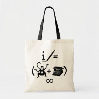 Funny Writer Monkey Typewriter Equation Tote Bag