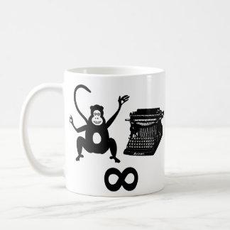 Funny Writer Monkey Typewriter Infinity Coffee Mug