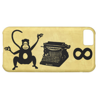 Funny Writer Monkey Typewriter Infinity Cover For iPhone 5C