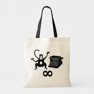 Funny Writer Monkey Typewriter Infinity Tote Bag