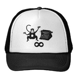 Funny Writer Monkey Typewriter Infinity Trucker Hat
