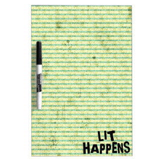 Funny Writer Reader Lit Happens Dry-Erase Board