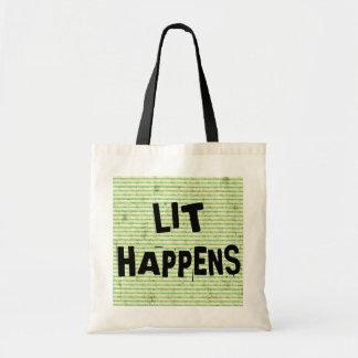 Funny Writer Reader Lit Happens Tote Bag