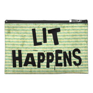 Funny Writer Reader Lit Happens Travel Accessories Bag