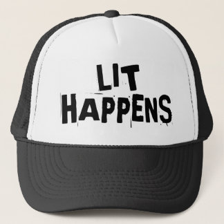 Funny Writer Reader Lit Happens Trucker Hat