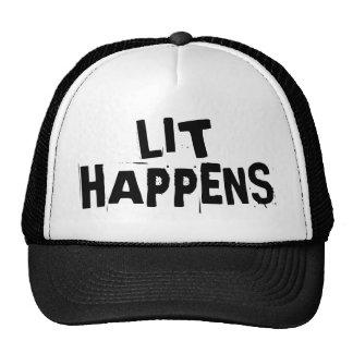 Funny Writer Reader Lit Happens Trucker Hat
