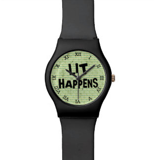 Funny Writer Reader Lit Happens Wrist Watch