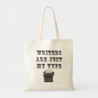 Funny Writers Are My Type Slogan Tote Bag