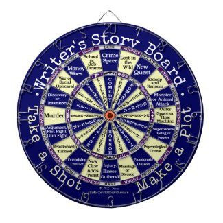 Funny Writers Authors Story Board Novelty Dartboard With Darts
