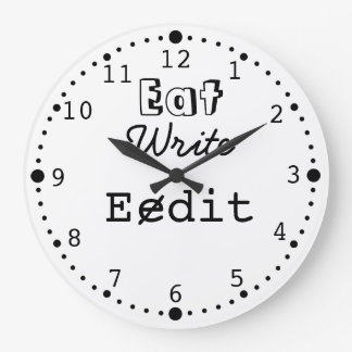 Funny Writing Clock for Writers Journalists Author