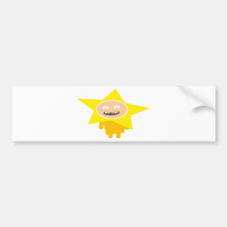 FUNNY XMAS STAR BUMPER STICKER