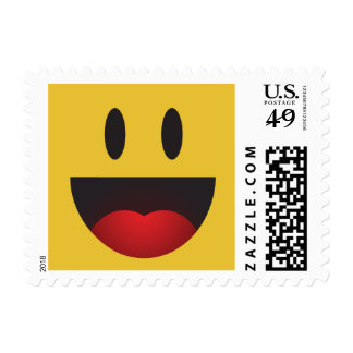 Funny Yah Emoji Postage