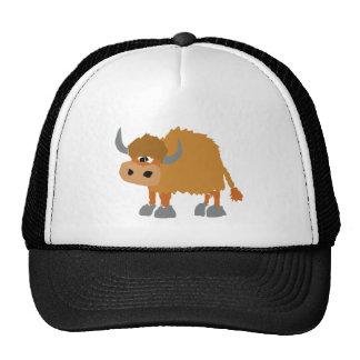 Funny Yak Primitive Art Design Trucker Hat