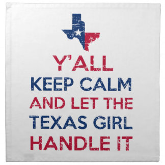 Funny Y'all Texan tees Cloth Napkin