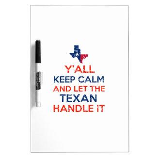 Funny Y'all Texan tees Dry-Erase Board