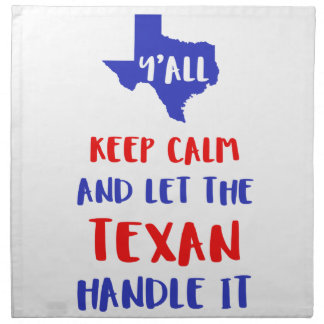 Funny Y'all Texas Girl Tees Cloth Napkin