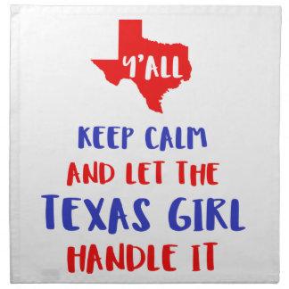 Funny Y'all Texas Girl Tees Napkin