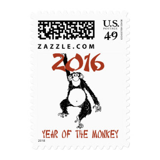 Funny Year of The Monkey 2016 Stamp