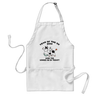 Funny Year of The Ox Gifts Adult Apron