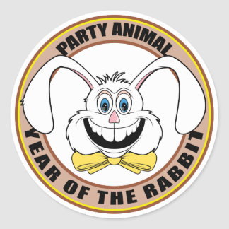 Funny Year of The Rabbit Classic Round Sticker