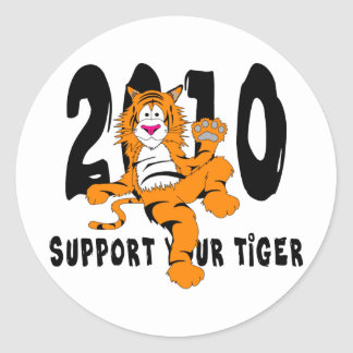 Funny Year of The Tiger 2010 Gift Classic Round Sticker