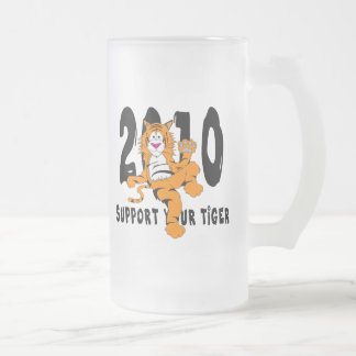 Funny Year of The Tiger 2010 Gift Frosted Glass Beer Mug
