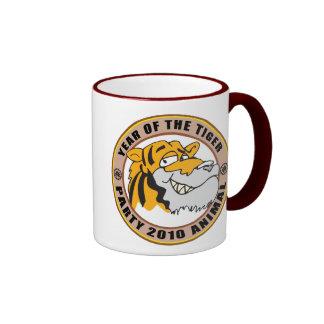Funny Year of The Tiger 2010 Gift Ringer Mug