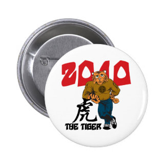 Funny Year of The Tiger Button
