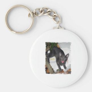 Funny Yelling Cat Keychain