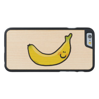 Funny yellow banana carved® maple iPhone 6 case