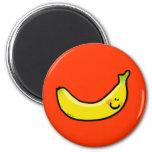 Funny yellow banana refrigerator magnets