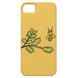 Funny yellow Bee and Leaves iPhone 5 Case