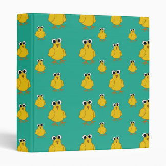 Funny Yellow Chick Pattern Binder