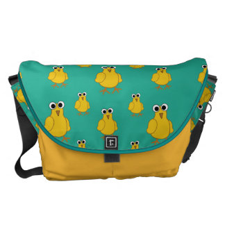 Funny Yellow Chick Pattern Messenger Bag