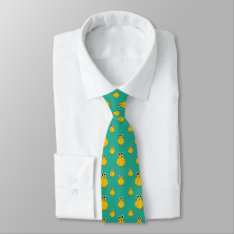 Funny Yellow Chick Pattern Tie at Zazzle